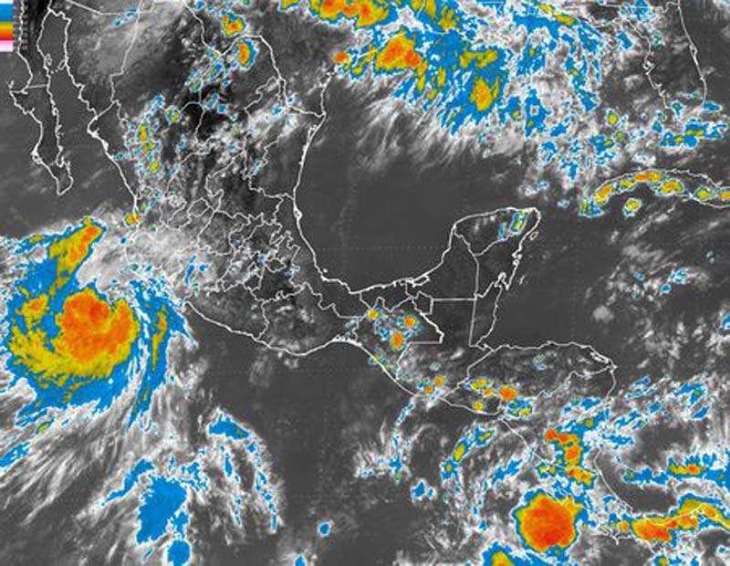 Aunque se degradó a tormenta tropical, en las próximas horas provocará lluvias intensas. Foto: SMN