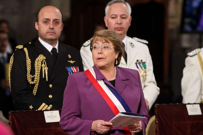 Bachelet hizo un llamado para seguir trabajando. Foto: UPI