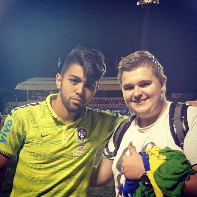 André ao lado de Gabigol na final em torneio com a Seleção sub-20 Foto: Arquivo pessoal