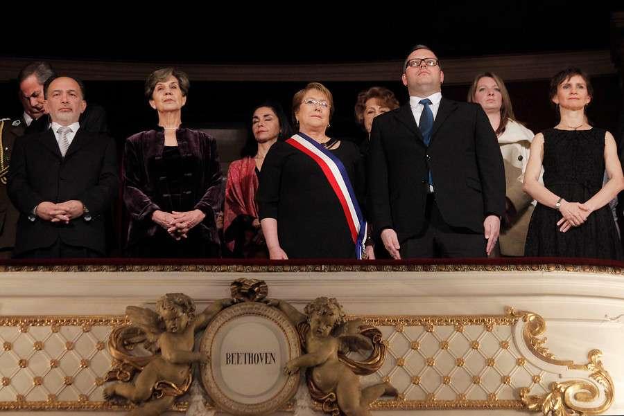 Bachelet fue con toda su comitiva Foto: Agencia UNO