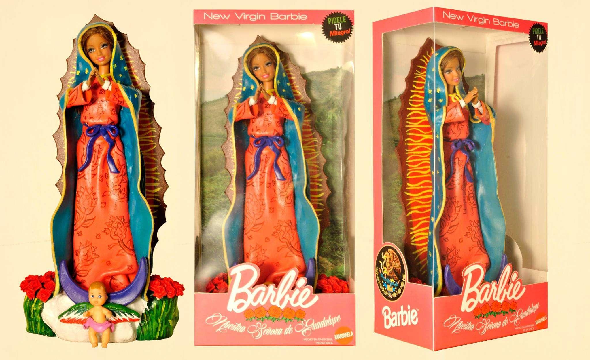 Dos artistas argentinos que publicaron versiones de Barbie y Ken caracterizados como figuras religiosas desataron polémica. Foto: Facebook/Pool Macho Cabrío Paolini