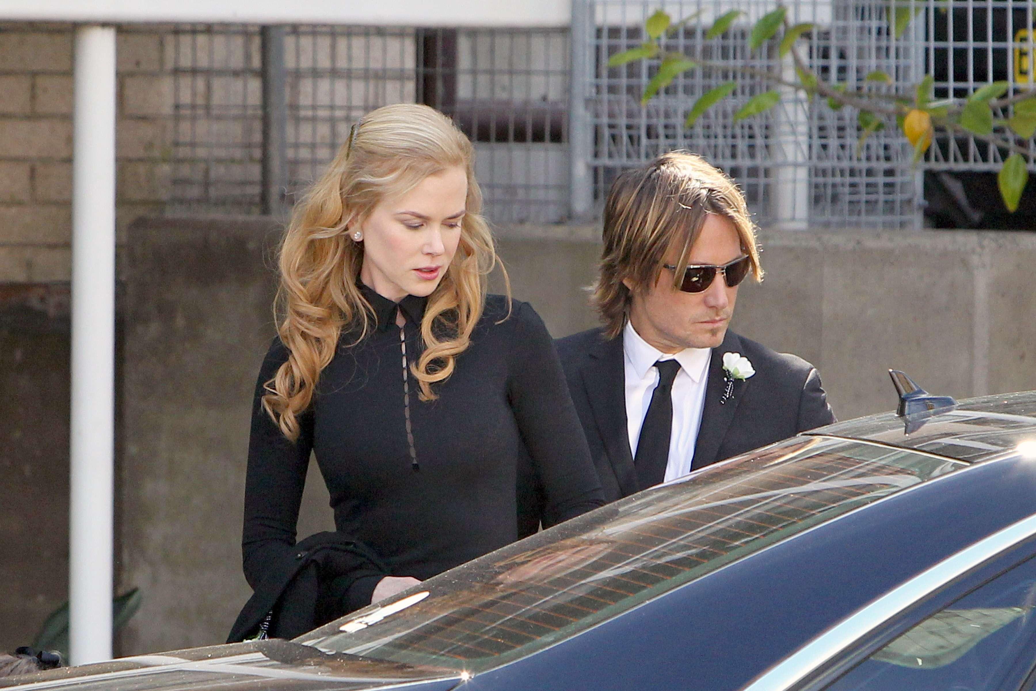 Nicole Kidman enterra o pai Foto: The Grosby Group