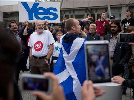 """La pregunta en la boleta electoral no podía ser más sencilla: """"¿Debe Escocia ser un país independiente?"""". Foto: AP en español"""