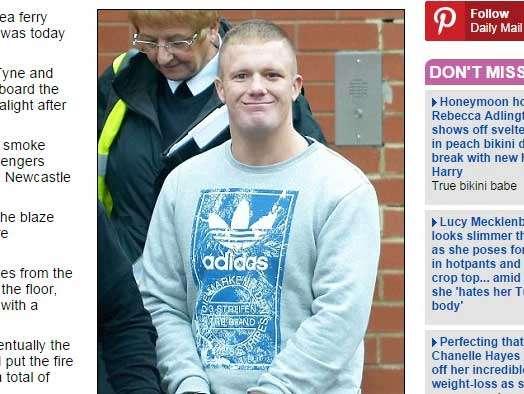 """El tabloide británico Daily Mail difundió el caso de Boden Hughes titulándolo """"Idiota turista británico.."""". Foto: Daily Mail"""