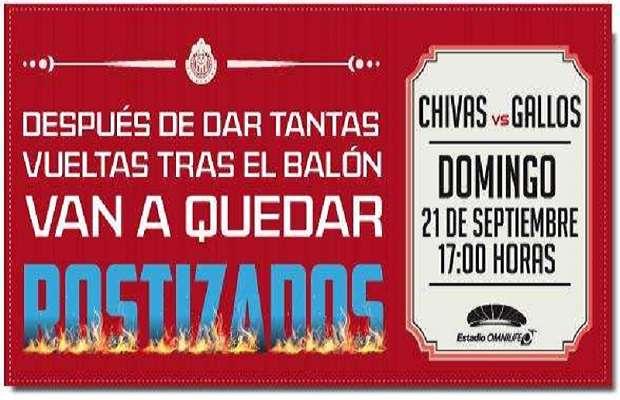 El desplegado del Guadalajara para 'calentar' a su próximo rival. Foto: Twitter