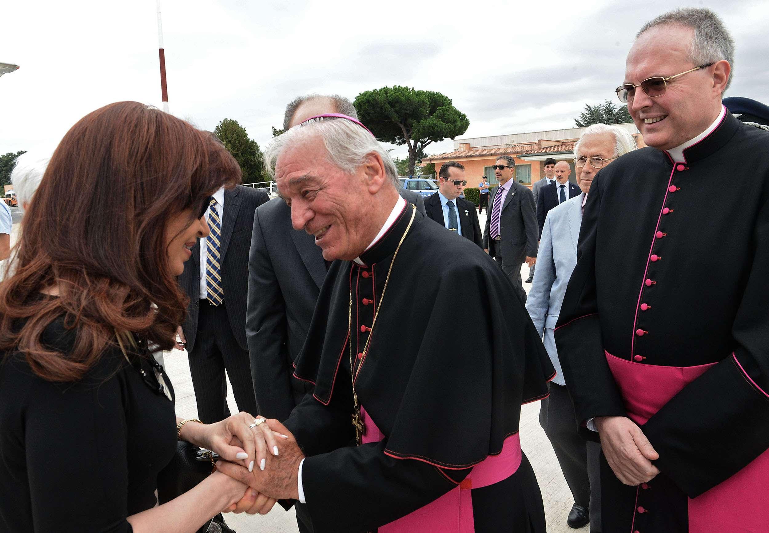 Cristina llegó a Roma y mañana se reunirá con el Papa Foto: Agencias