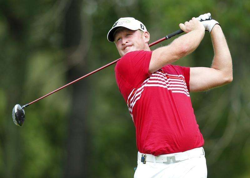 Jamie Donaldson of Wales hits a driver off the second tee during the final round of the 2014 PGA Championship at Valhalla Golf Club in Louisville, Kentucky, August 10, 2014. Foto: John Sommers II/Reuters