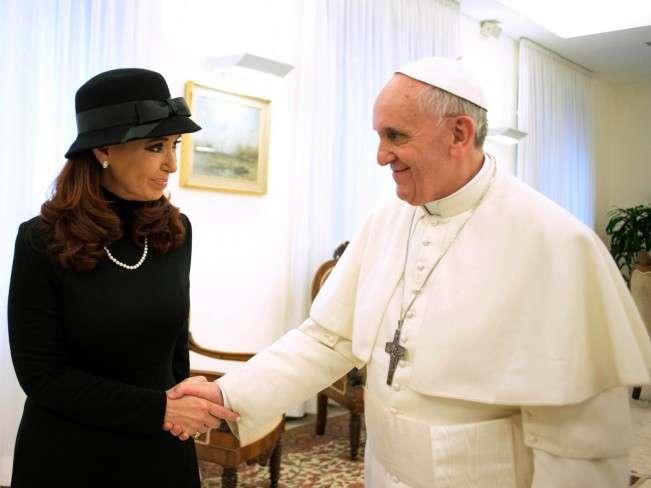 Cristina visita al Papa Francisco Foto: Agencias