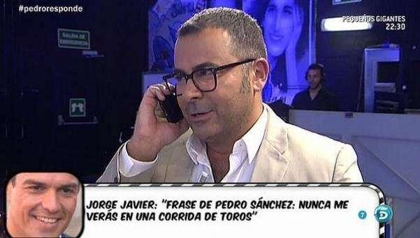 Llamada de Pedro Sánchez a 'Sálvame'. Foto: Tele5