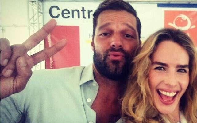 Ricky Martin y Eglantina Zingg. Foto: Instagram/ Eglantina Zingg