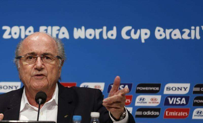 FIFA President Sepp Blatter speaks during a news conference at the Maracana stadium in Rio de Janeiro July 14, 2014. Foto: Pilar Olivares/Reuters