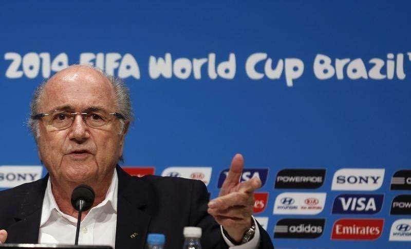 FIFA President Sepp Blatter speaks during a news conference at the Maracana stadium in Rio de Janeiro July 14, 2014. Foto: Pilar Olivares/Reuters