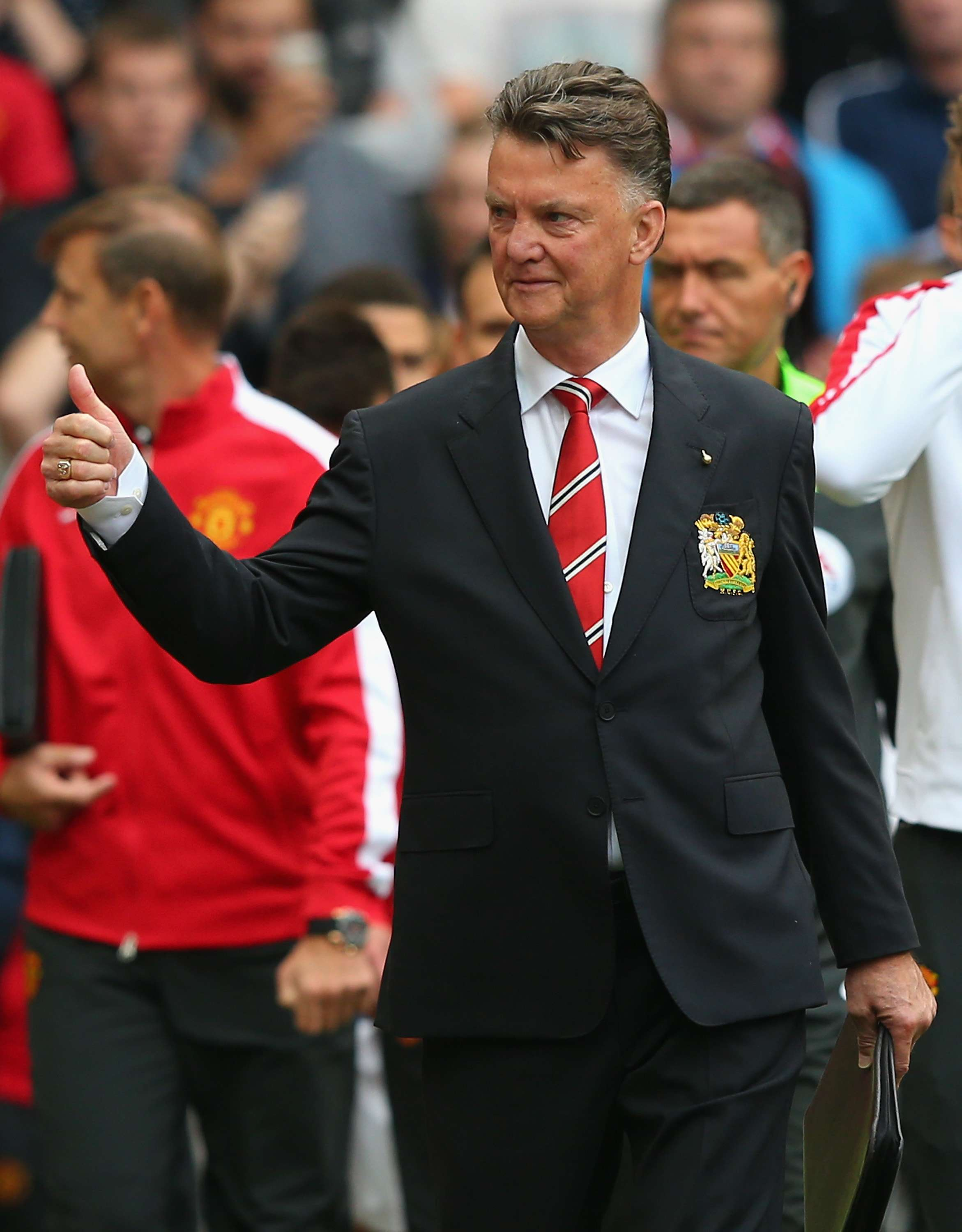 Louis van Gaal, director técnico del Manchester United. Foto: Getty Images