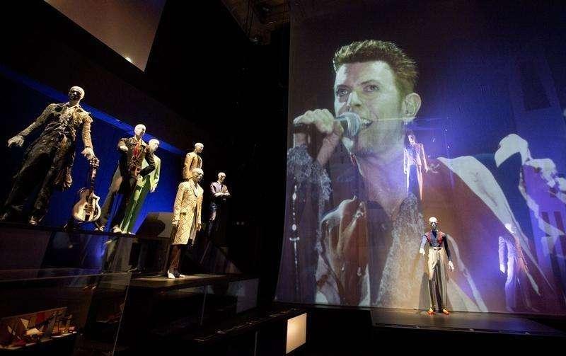 Exposição sobre David Bowie em Londres, em 20 de março de 2013. Foto: Neil Hall/Reuters