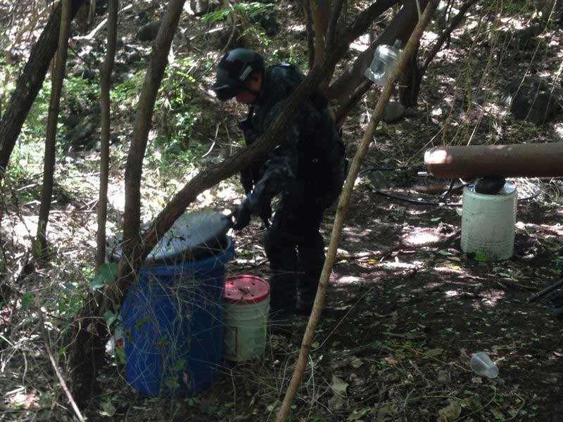 Desde el 8 de septiembre, personal de la División de Gendarmería se desplegó en el poblado de La Ruana, municipio de Buenavista Tomatlán. Foto: CNS