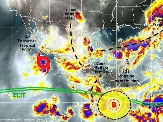 Se pronostican lluvias intermitentes en Sonora, Nayarit, Jalisco y Colima. Foto: SMN