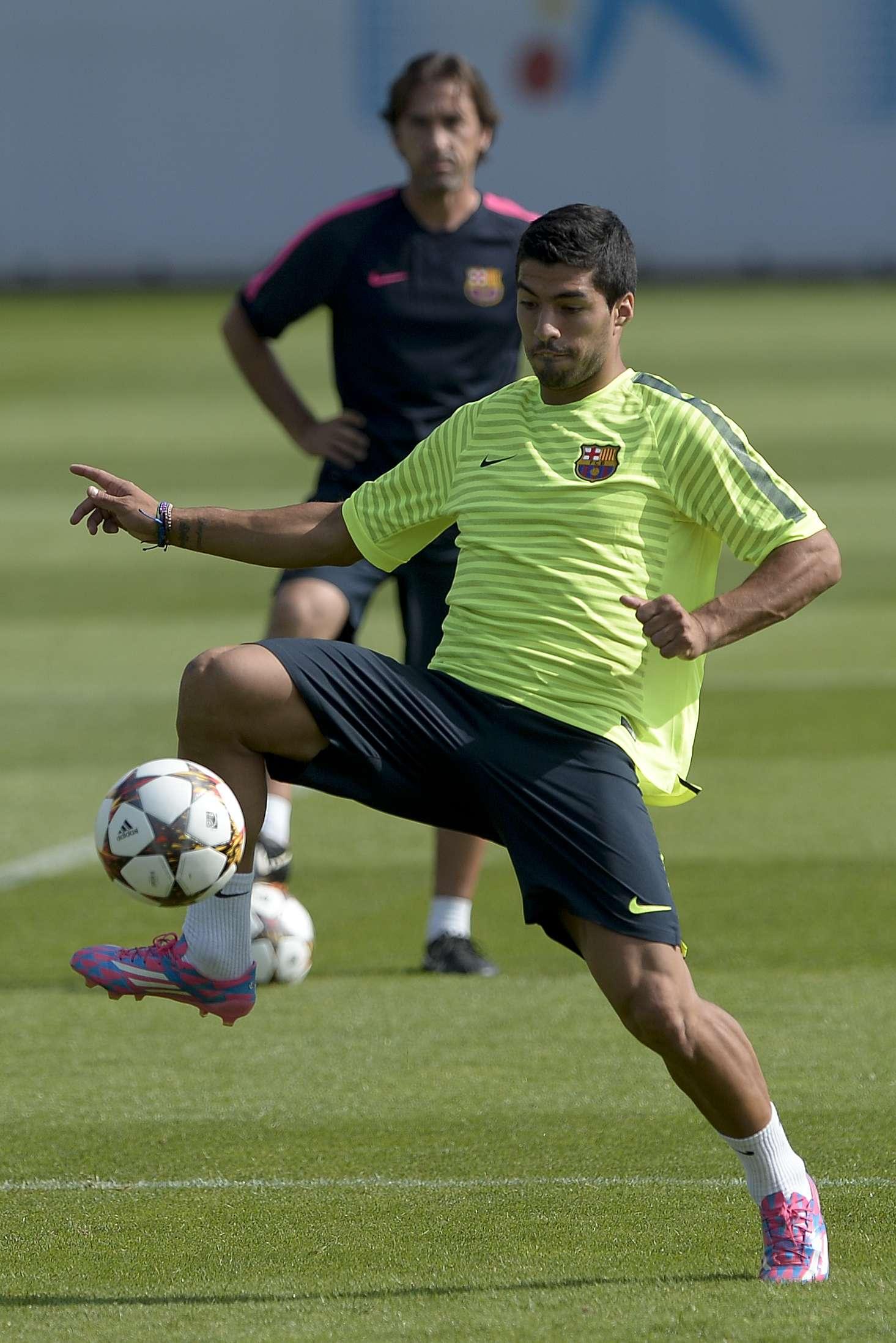 El uruguayo entrena al cien por ciento. Foto: AFP