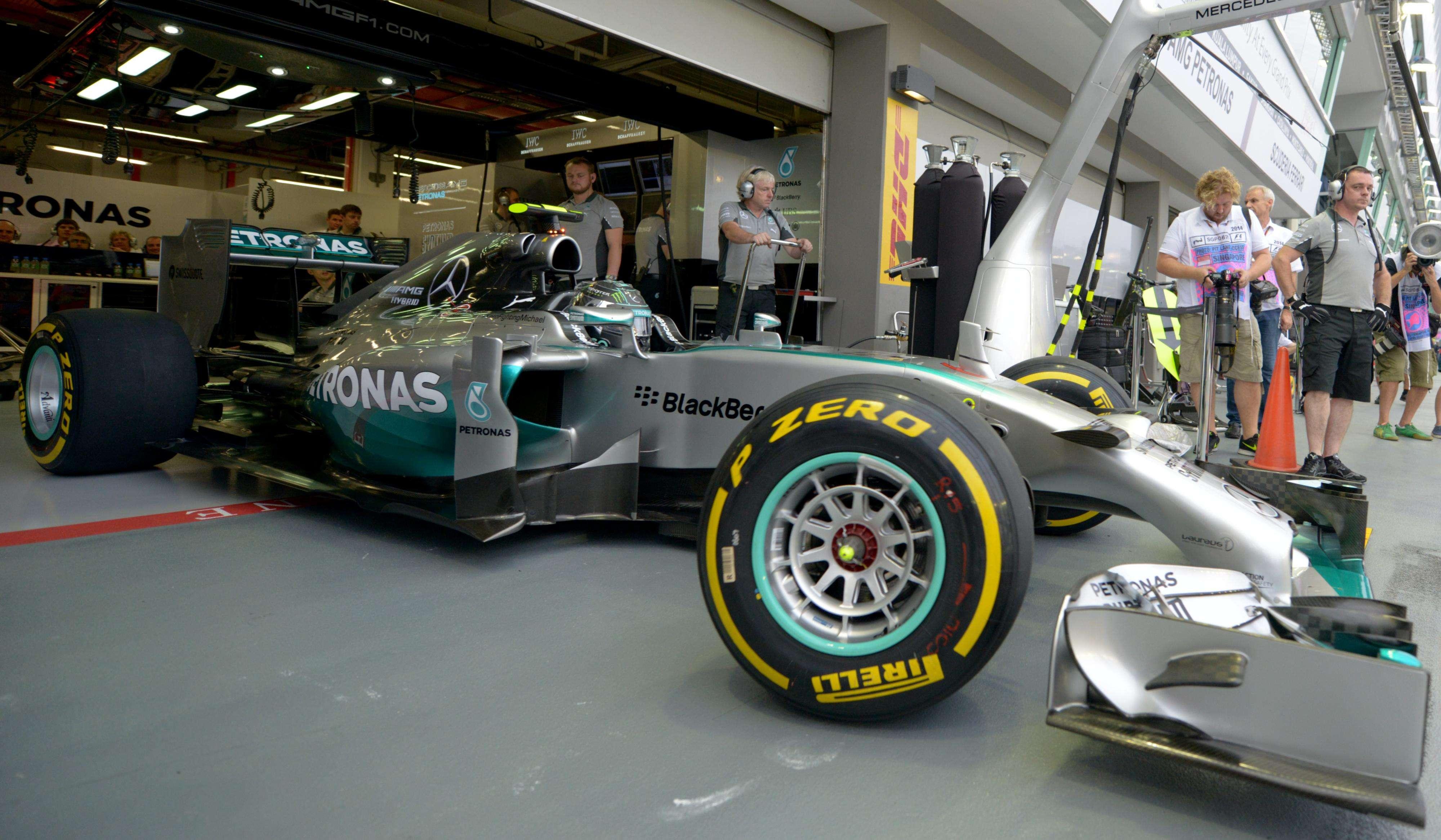 Rosberg se tuvo que conformar con el segundo lugar de la calificación. Foto: AFP