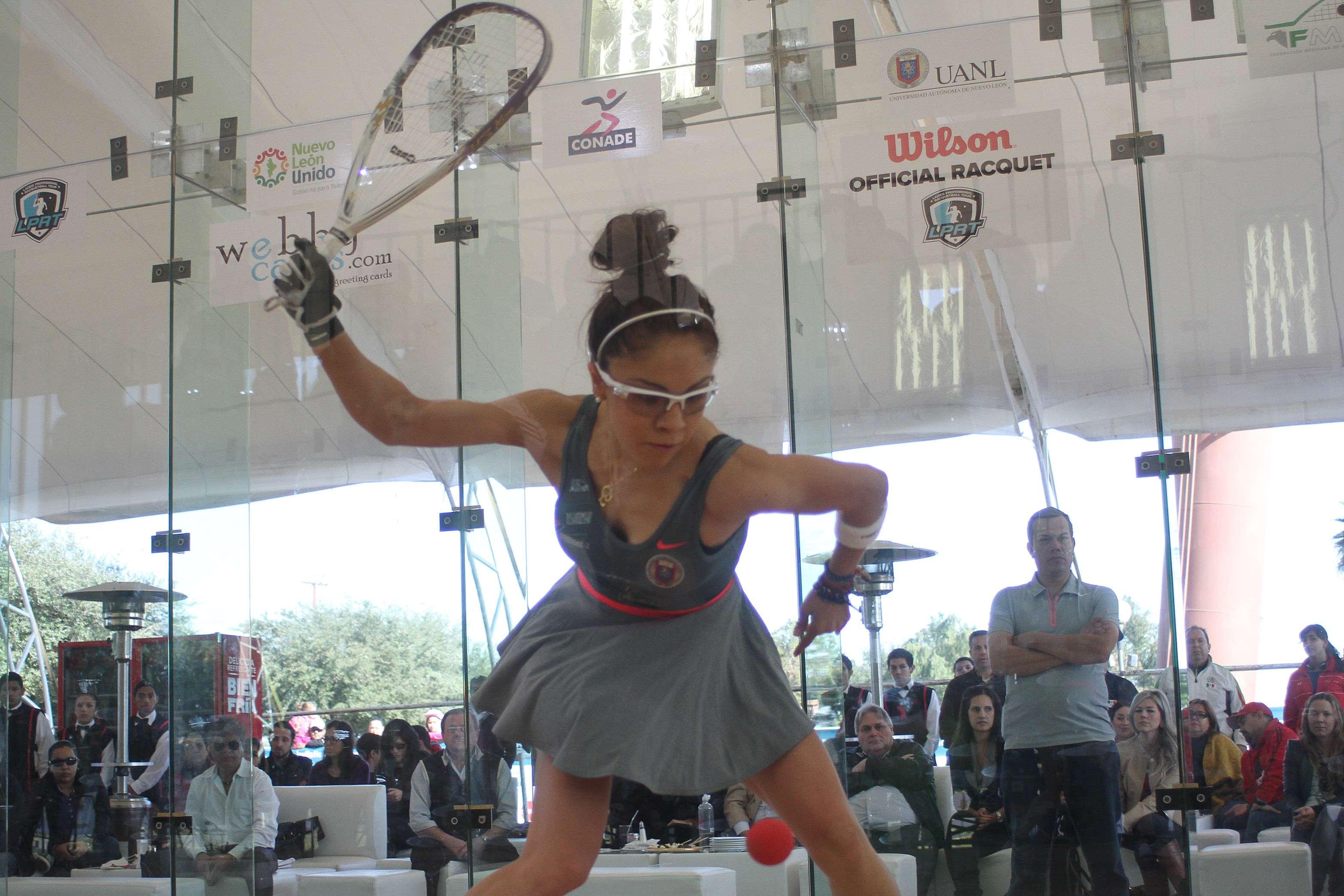 Paola Longoria con su buena actuación al iniciar el Abierto Mexicano de Raquetas. Foto: Jam Media