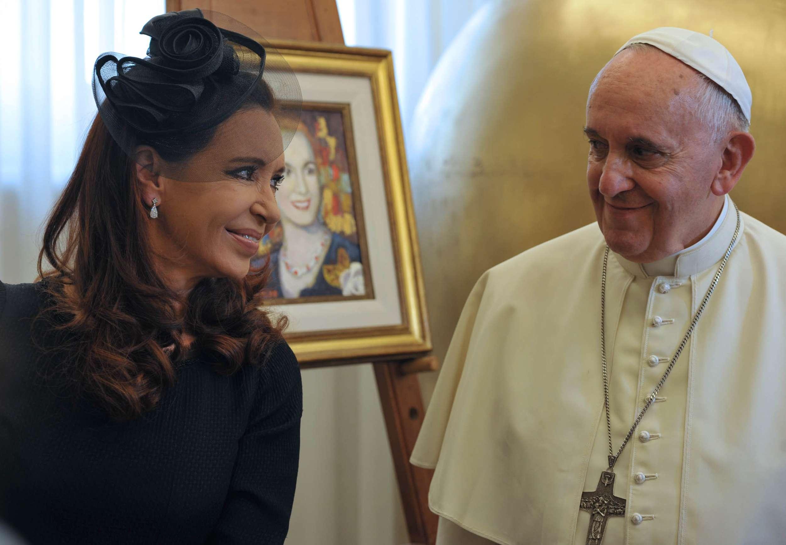 La presidenta Cristina Kirchner junto al Papa Francisco. Foto: Presidencia