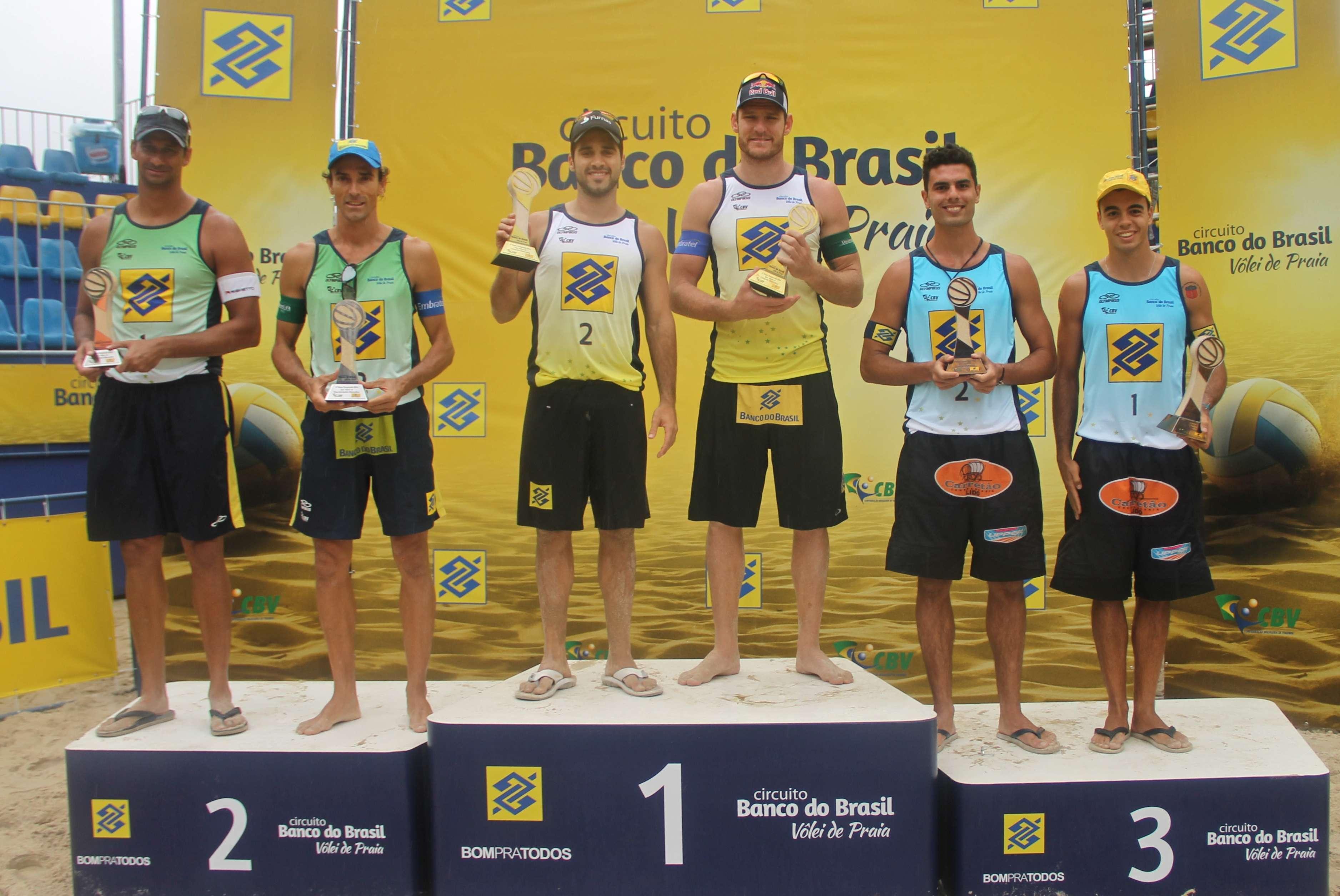 Alison e Bruno ficam com medalha de ouro Foto: CBV/Divulgação
