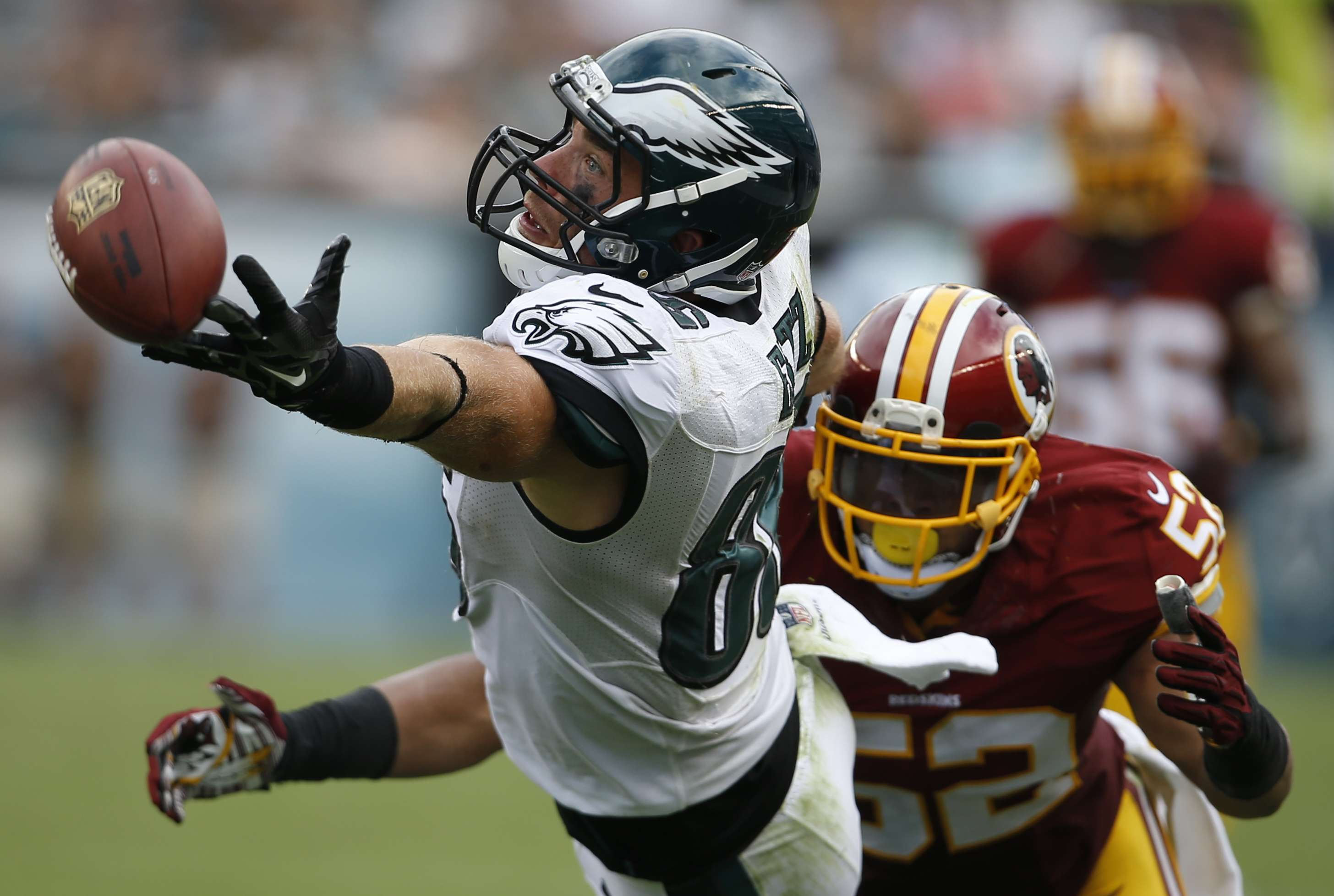 Philadelphia Eagles se imponen a Redskins en apretado juego. Foto: AP