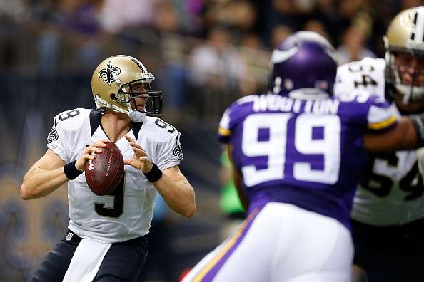 Brees tiene cinco touchdowns en la temporada. Foto: Getty Images