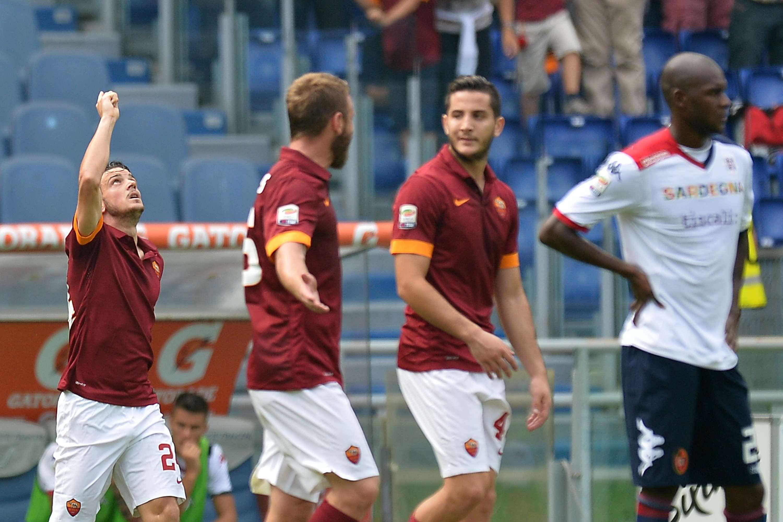 Jugadores de la Roma festejan el triunfo. Foto: Getty Images