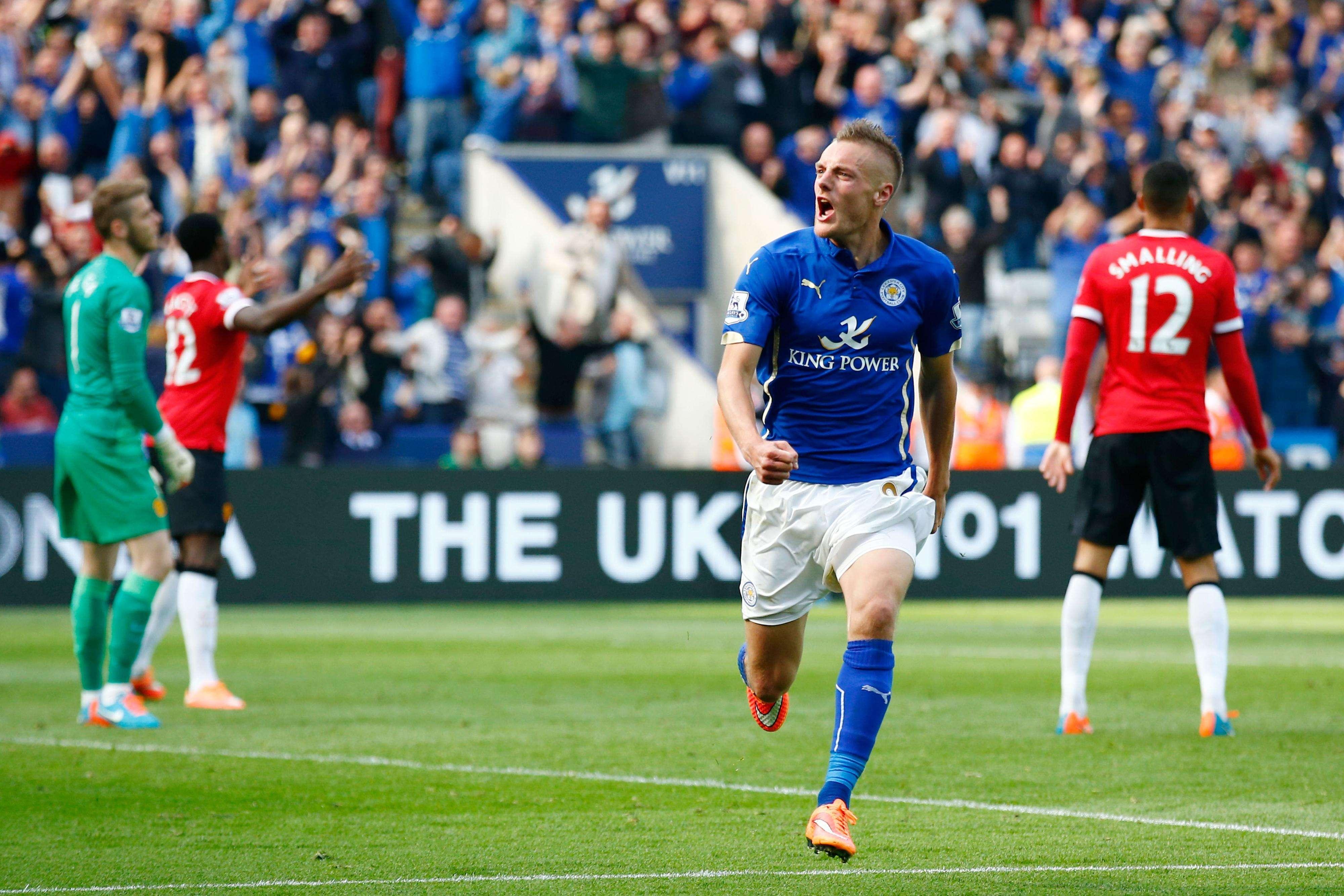 Jamie Vardy festeja el triunfo de su equipo. Foto: Getty Images