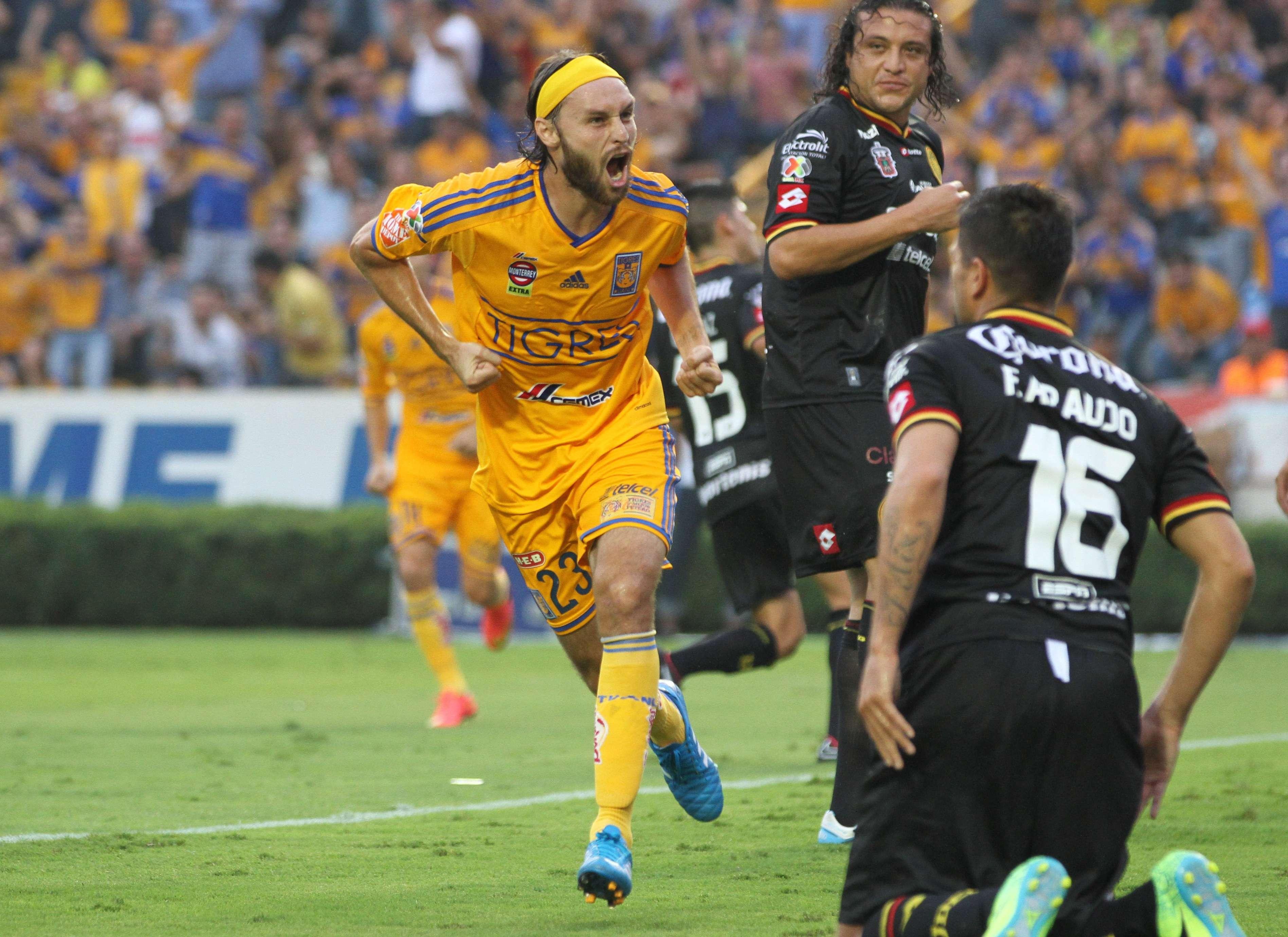 Gerardo Lugo marcó el gol del triunfo de Tigres 1-0 sobre Leones Negros. Foto: Imago7