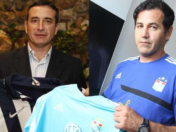 Guillermo Sanguinetti y Daniel Ahmed cumplen su primera temporada en el fútbol peruano. Foto: Difusión/Terra Perú
