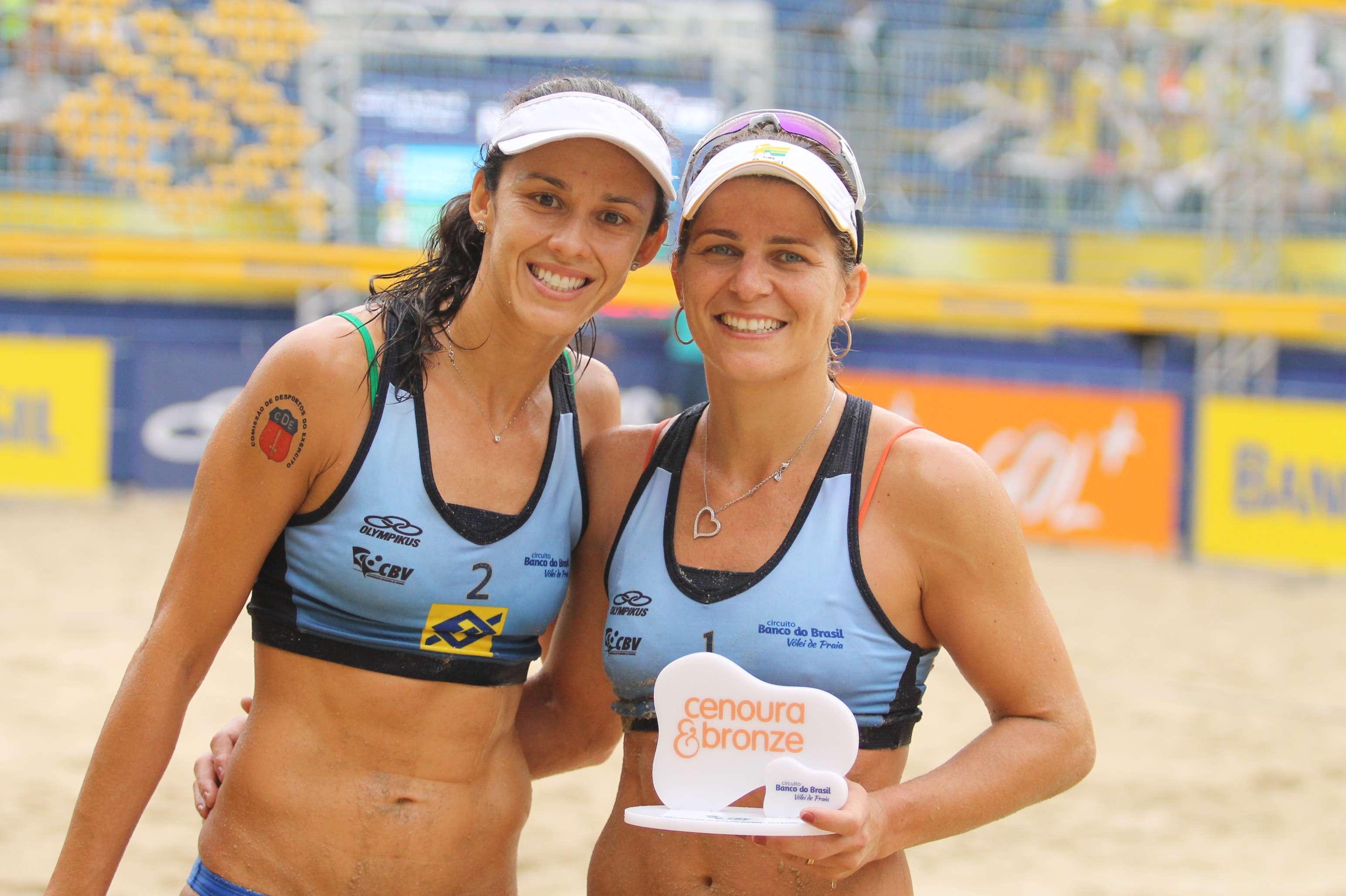 Talita e Larissa conquistam etapa de vôlei de praia Foto: CBV/Divulgação