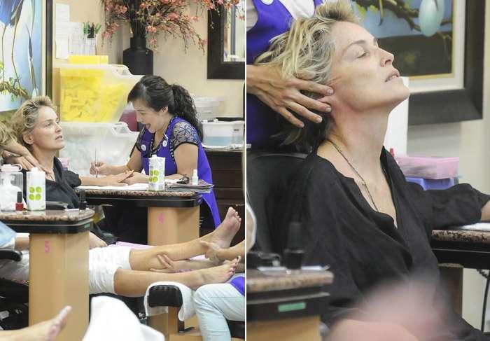 Sharon Stone tirou o último final de semana para se cuidar. Foto: Grosby Group