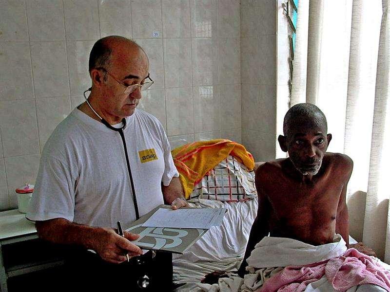 Fotografía facilitada por Juan Ciudad ONGD de Manuel García Viejo, el misionero leonés infectado por el virus del Ébola. Foto: EFE
