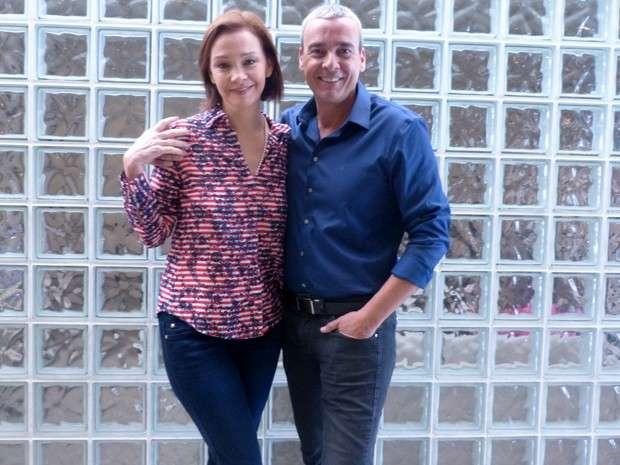 Alexandre Borges e Julia Lemmertz Foto: Encontro com Fátima Bernardes/TV Globo/Divulgação