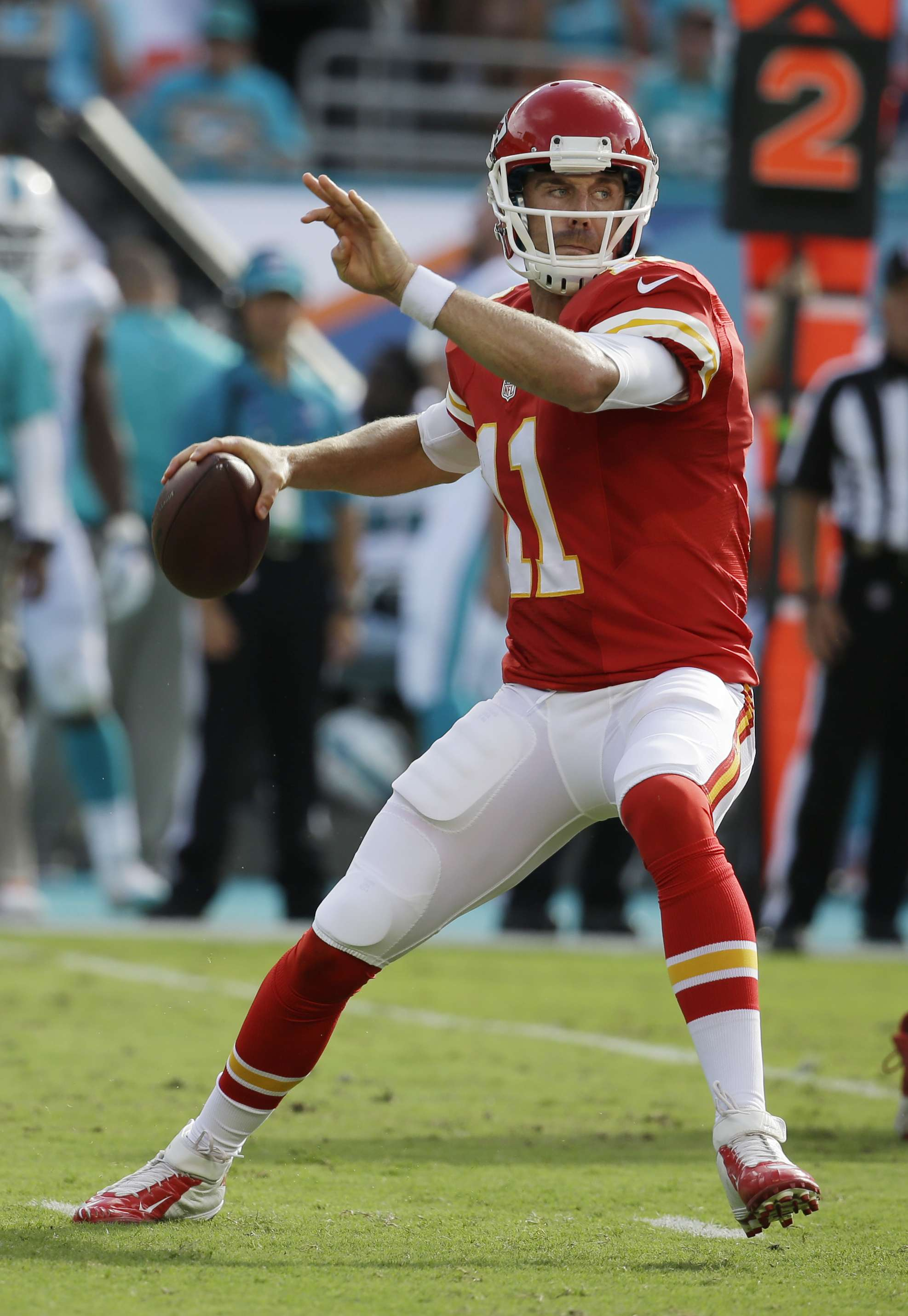Gran tarde para Alex Smith. Foto: AP