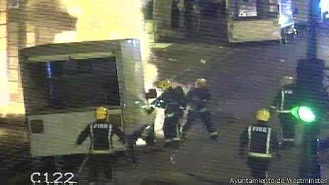 En lo que va de año, han ocurrido más de 60 explosiones en las aceras de la capital británica Foto: BBC Mundo/Ayuntamiento de Westminster