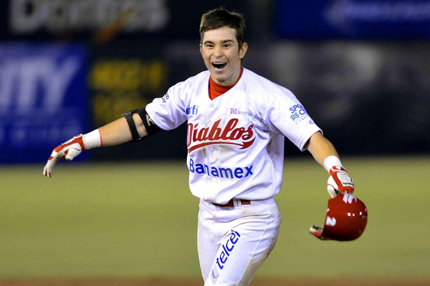 Carlos Figueroa, de los Diablos Rojos del México, es nombrado Novato del Año 2014 de la Liga Mexicana de Beisbol. Foto: Enrique Gutiérrez/Diablos Rojos del México