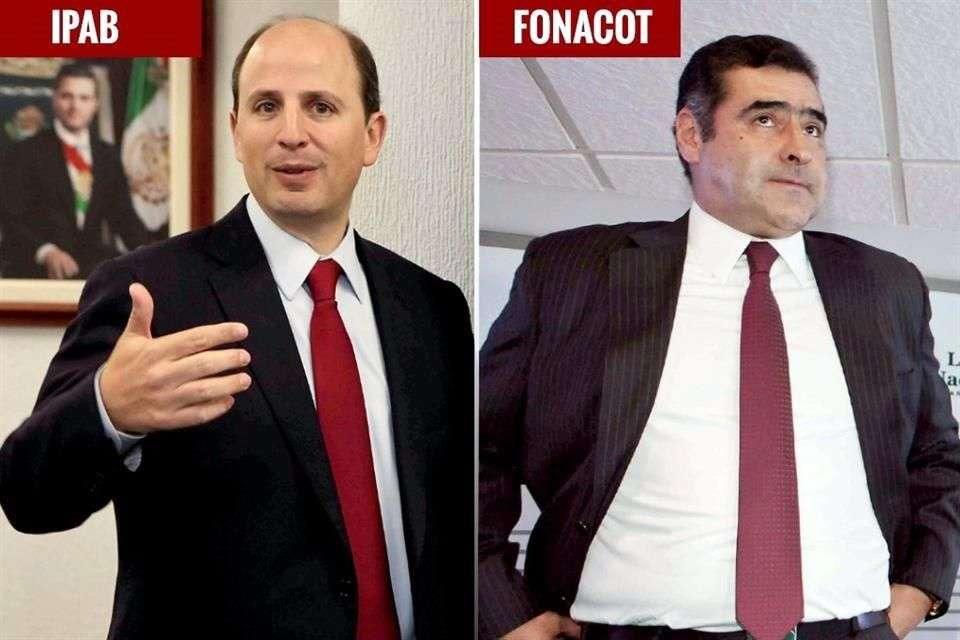 Lorenzo Meade (IPAB) y César Alberto Martínez (Fonacot) son los directores mejor pagados del país. Foto: Reforma