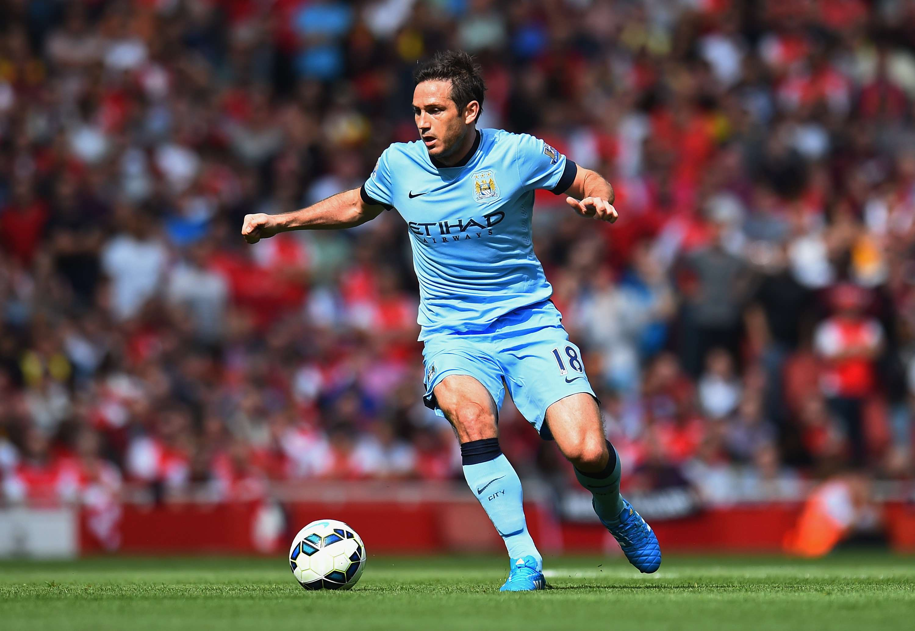 Lampard marcou contra o Chelsea durante empate com o City Foto: Shaun Botterill/Getty Images