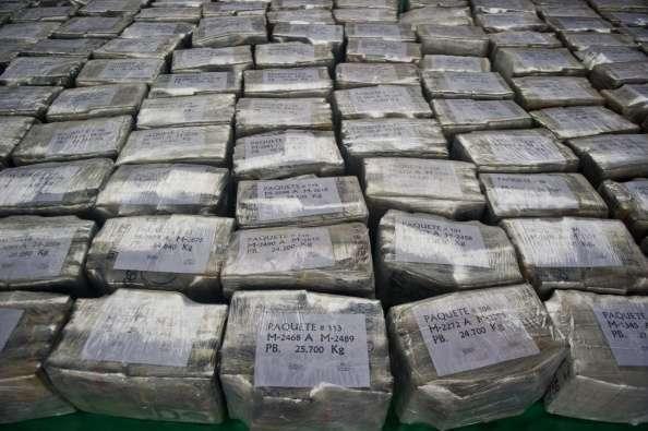 Decomiso de paquetes de cocaína pertenecientes a un cártel mexicano Foto: Getty Images/Archivo