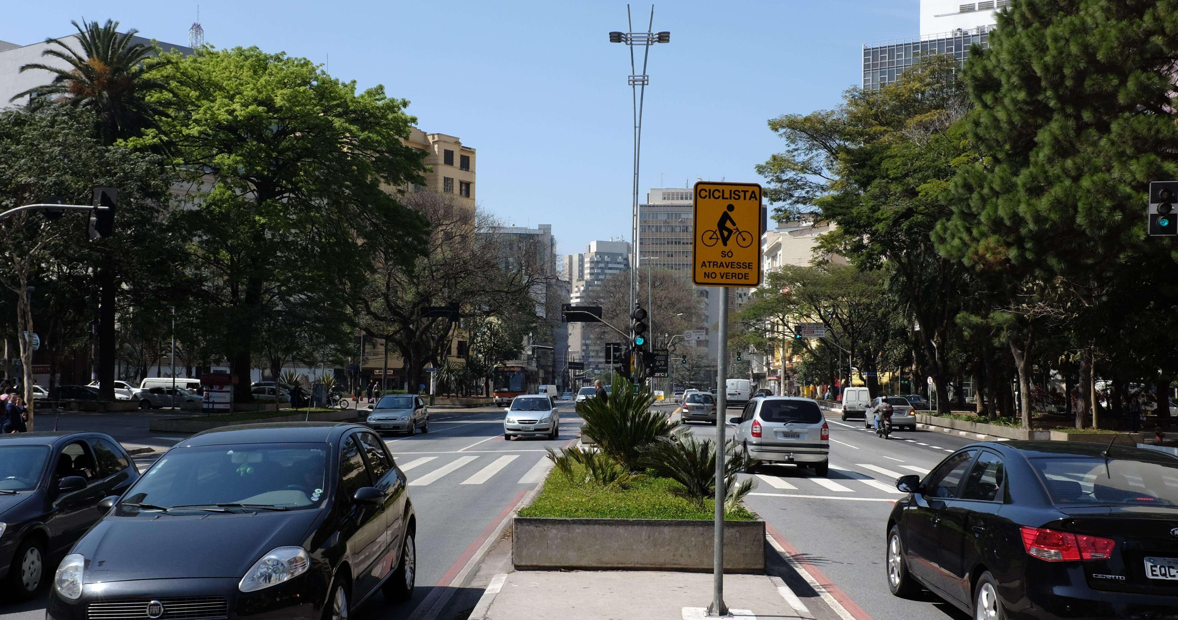 A avenida Paulista deve receber uma ciclovia permanente no ano que vem, segundo a prefeitura Foto: Kelsen Fernandes/Fotos Públicas