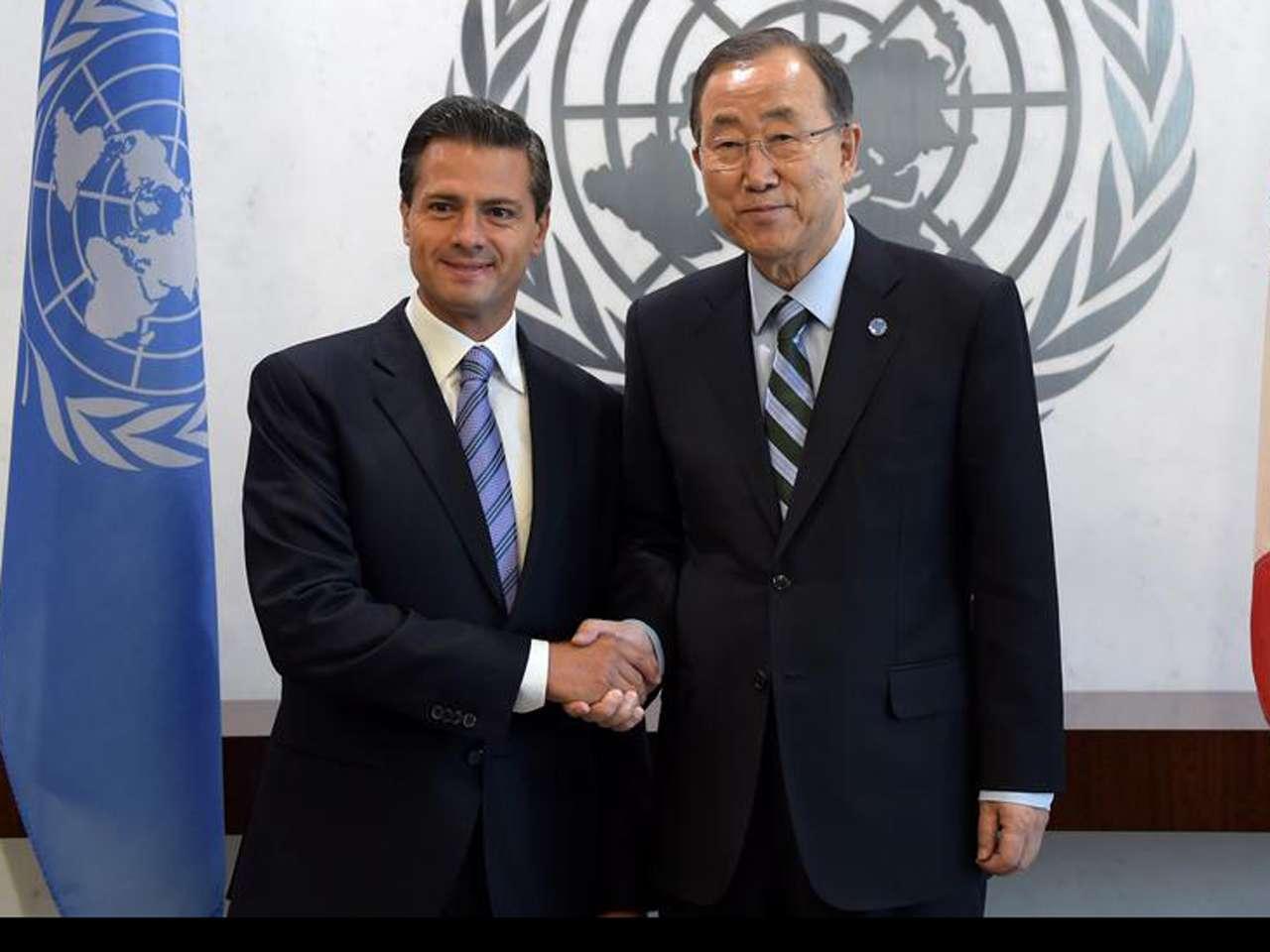 El presidente Peña Nieto hizo énfasis en los conflictos que esta organización afronta en distintas regiones del mundo, particularmente en Siria, Irak y la Franja de Gaza Foto: Presidencia de México