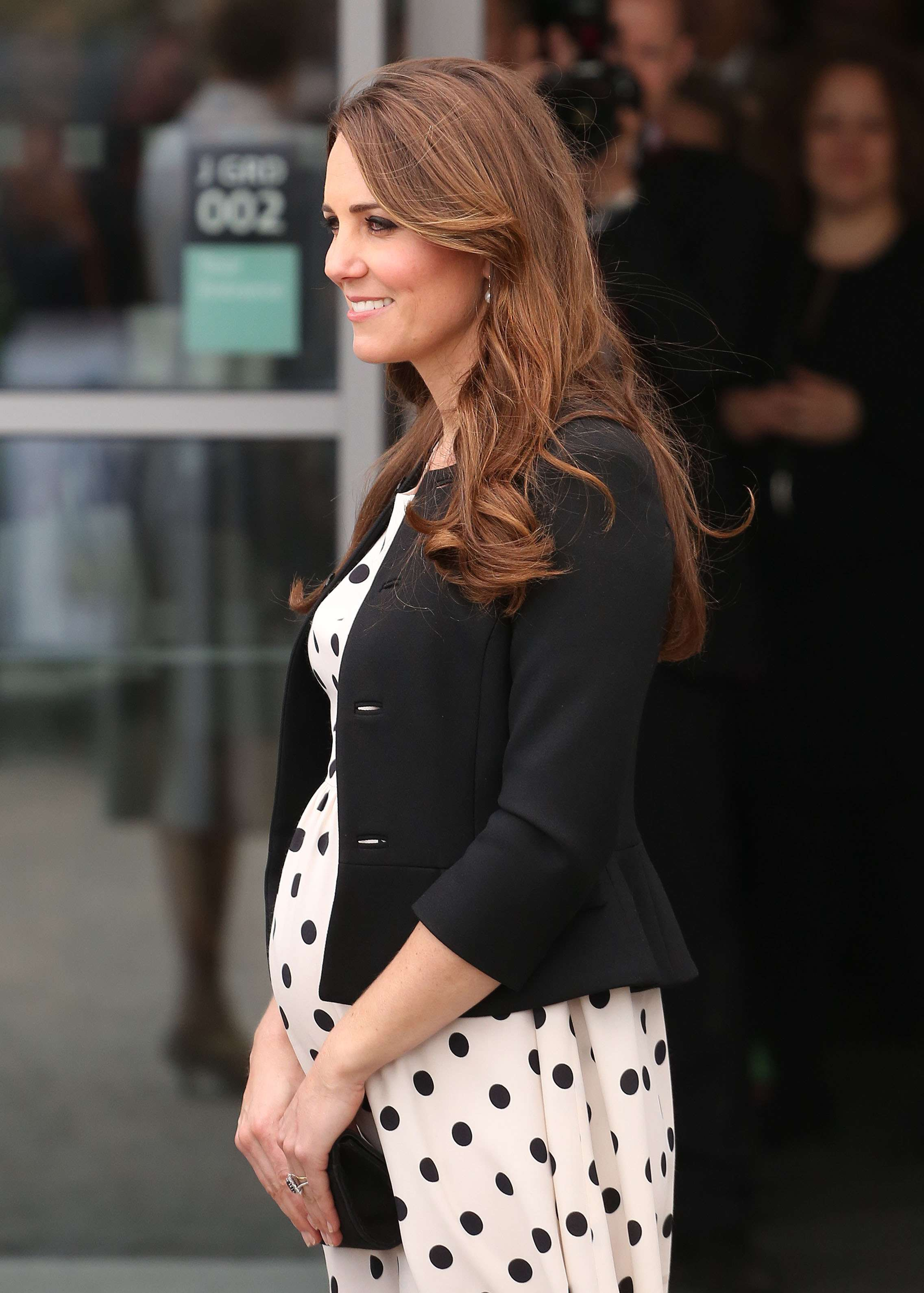 Kate costumava usar os fios soltos em sua primeira gravidez Foto: FeatureFlash/Shutterstock