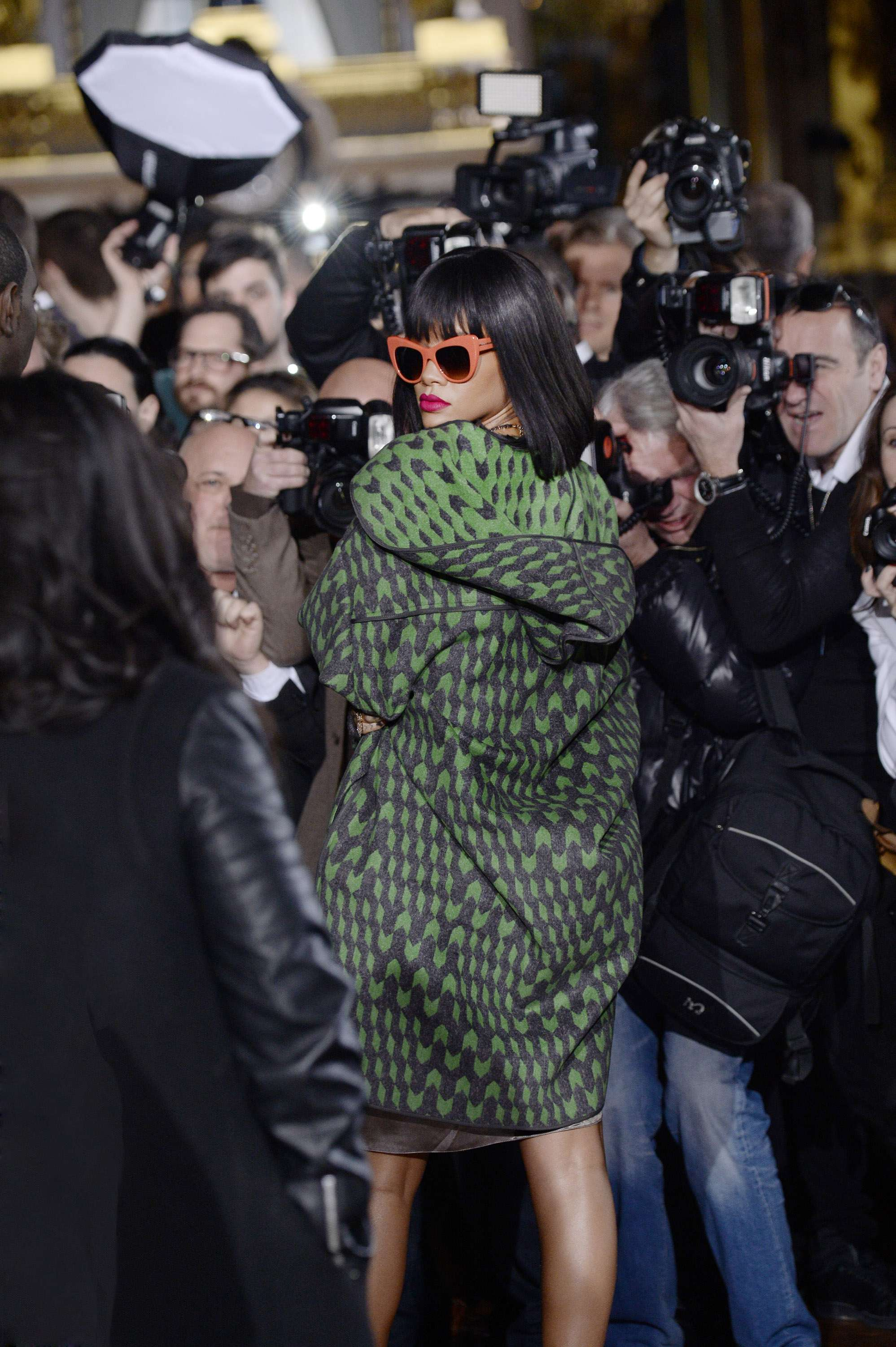 Rihanna en alta costura Foto: Getty Images