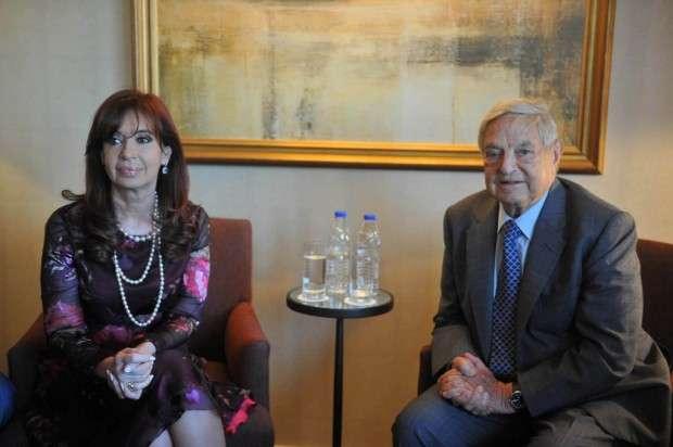 Cristina se reunió con Soros Foto: NA