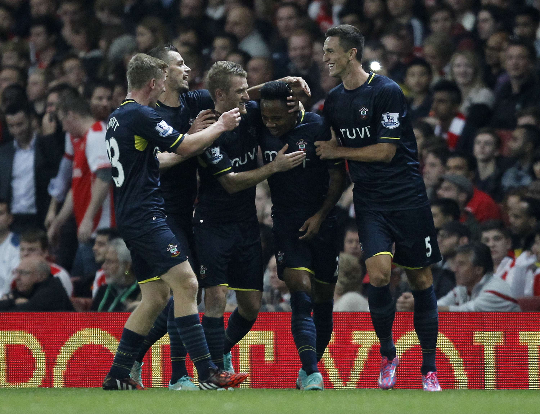 Los jugadores Southampton festejaron la eliminación de los 'gunners'. Foto: AFP