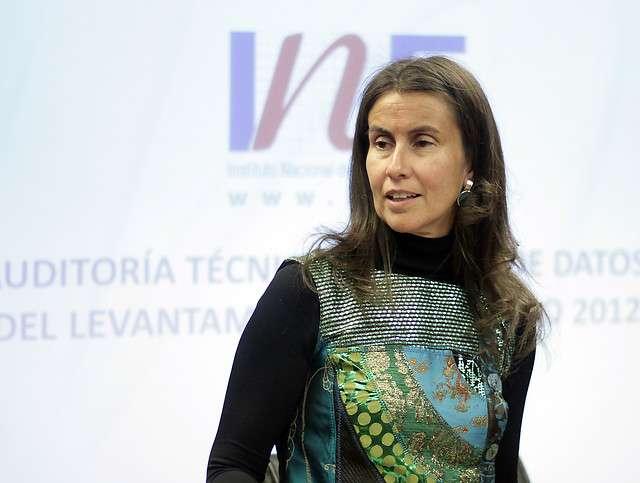 Directora del INE Foto: Agencia UNO