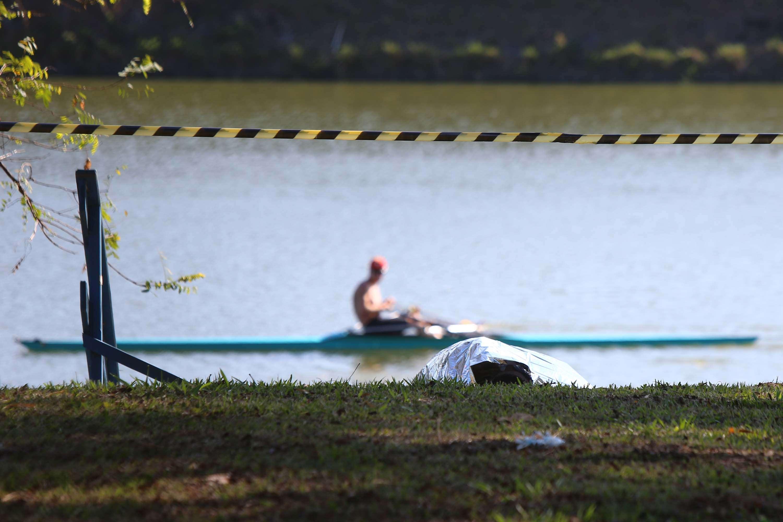 Corpo de jovem foi encontrado na raia olímpica da USP Foto: Marcos Bezerra/Futura Press