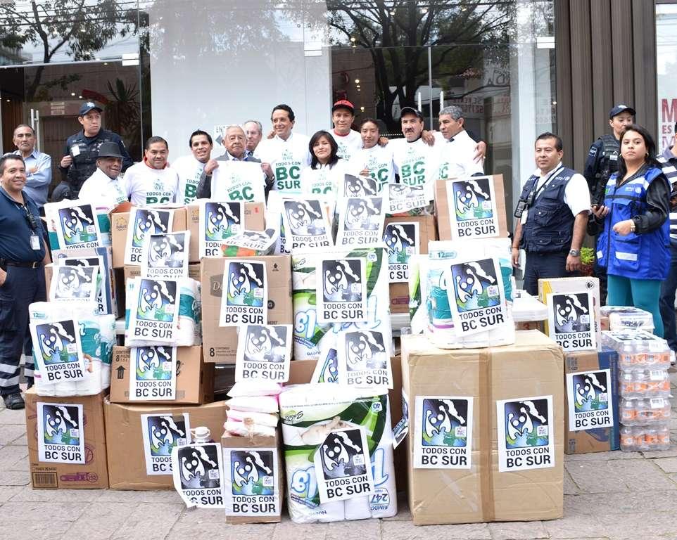 CMB envía víveres a los damnificados de Baja Californa Sur. Foto: Alma Montiel/CMB